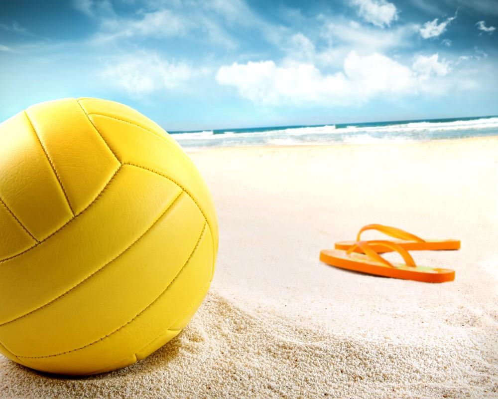 beach sunny volleyball Hawaii