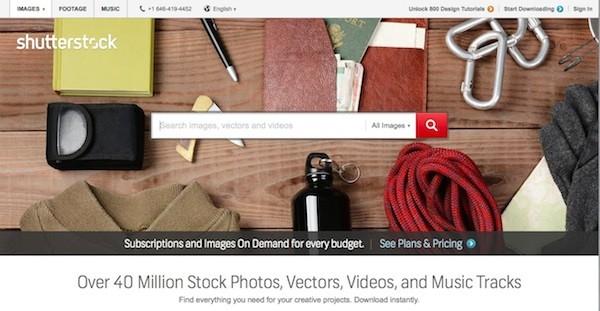Официальный сайт Shutterstock.com