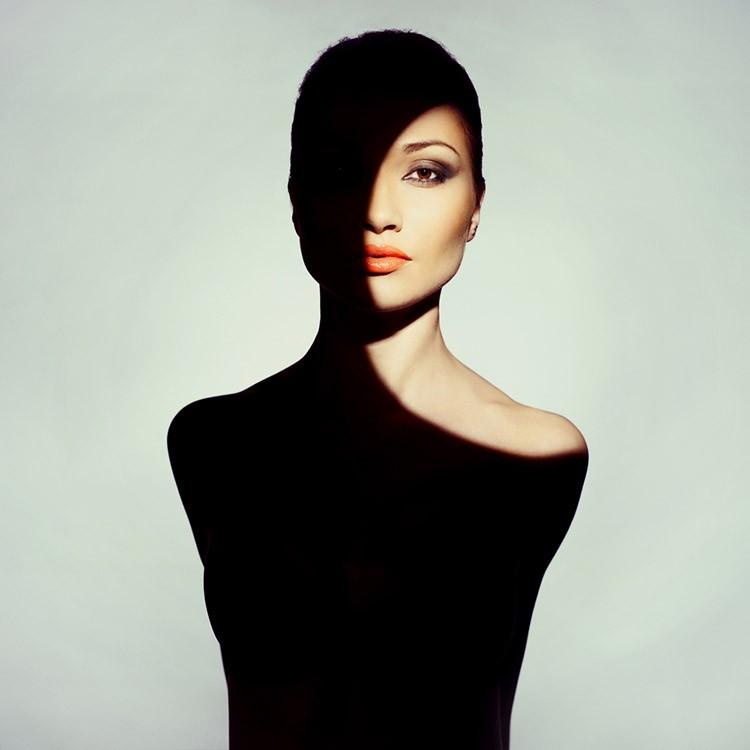Surrealist art portrait of young lady