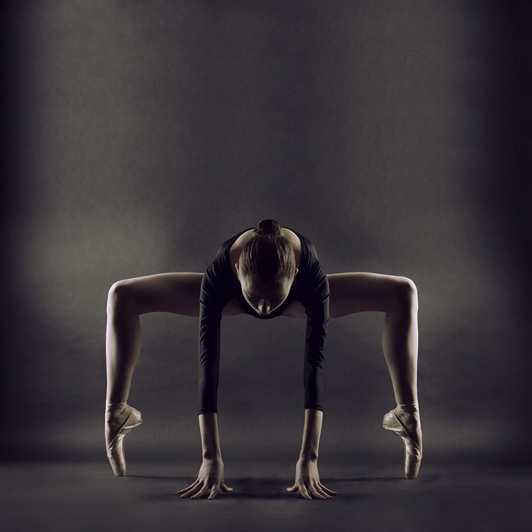 portrait of young beautiful gymnast