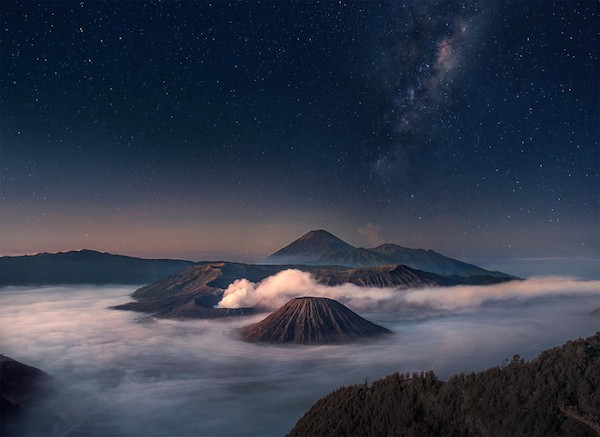 Bromo Starry Night by Silentino Natti