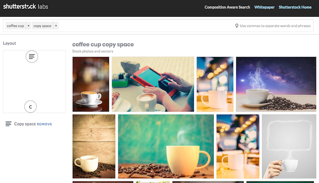 Поиск на Shutterstock