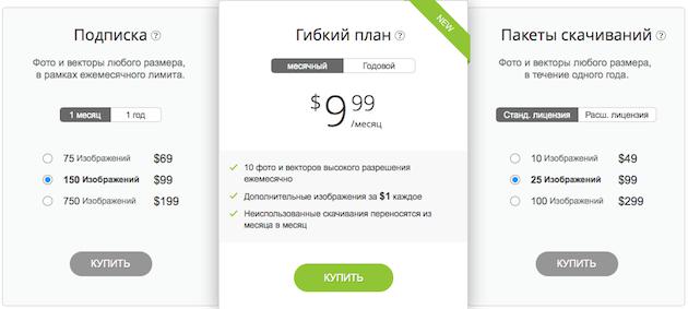 Цены Depositphotos