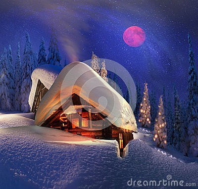 christmas-tale-climbers-climbing-to-tourist-wild-alpine-mountain-to-abandoned-cabin-order-to-illuminate-snow-covered-35496460