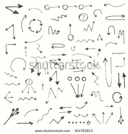 stock-vector-hand-drawn-simple-arrows-set