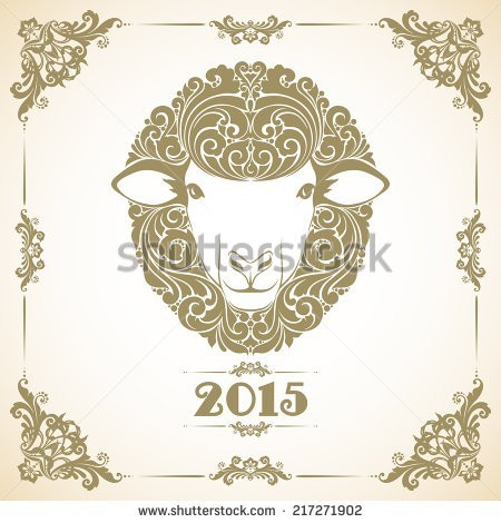 vintage-template-with-ornament-and-decorative-sheep-symbol