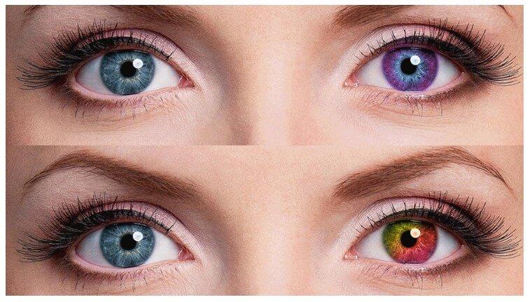 как поменять цвет глаз