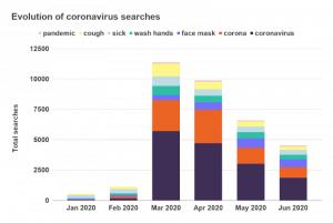 Поисковые запросы по коронавирусу