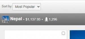 Статистика продаж Shutterstock
