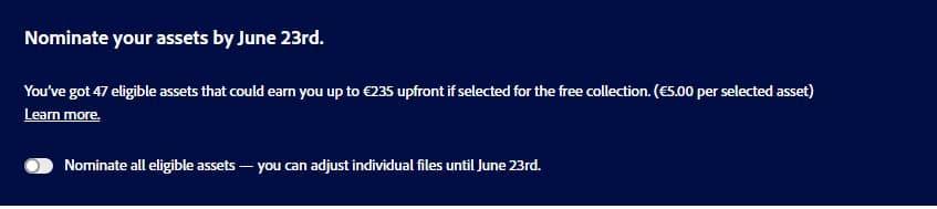 Добавление в бесплатную коллекцию Adobe Stock